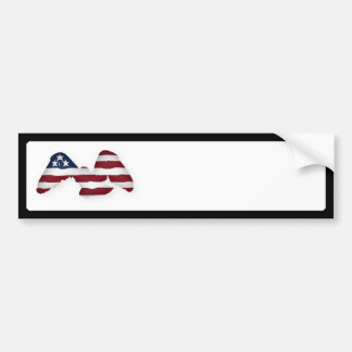 Red White & Blue Winged American Flag Bumper Sticker