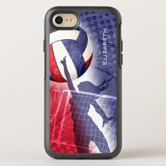 red white blue women's volleyball OtterBox symmetry iPhone 7 case