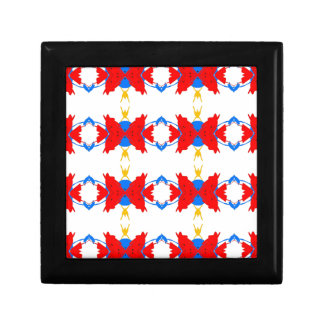 Red White Blue Yellow Boys Tribal Pattern Gift Box