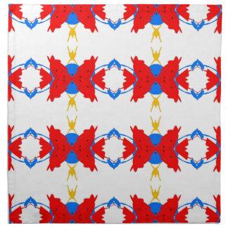 Red White Blue Yellow Boys Tribal Pattern Napkin