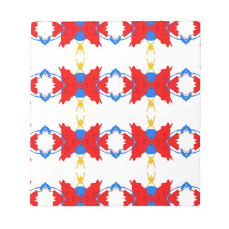 Red White Blue Yellow Boys Tribal Pattern Notepad