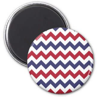 Red White Blue Zigzag Magnet
