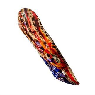 Red, White & Bored Skateboard Deck