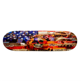 Red, White & Bored Skateboard Deck