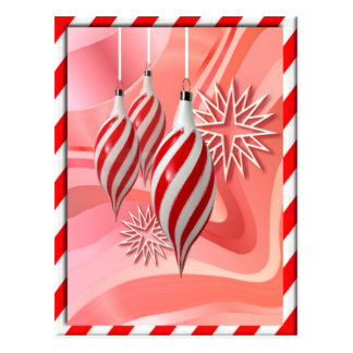RED & WHITE CANDY STRIPES by SHARON SHARPE Postcard