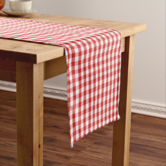 Red & White Checker Table Runner