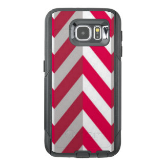 Red White Chevron Pattern Print Design OtterBox Samsung Galaxy S6 Case