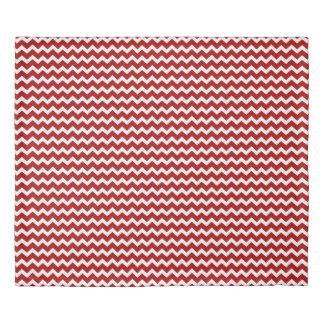Red White Chevron Stripes Duvet Cover