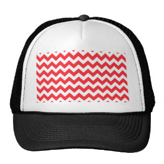 Red White Chevron Trucker Hat