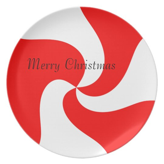 Red & White Christmas Cookie Plate