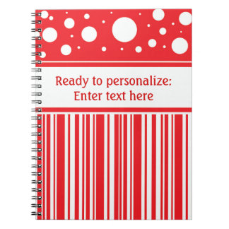 Red & White Christmas Notebooks