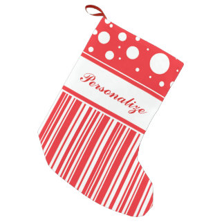 Red & White Christmas Small Christmas Stocking