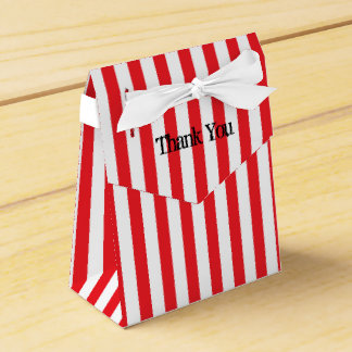 Red & White Circus Stripes Party Favor Boxes