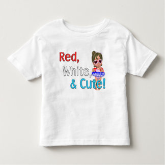Red, White & Cute! Toddler T-shirt