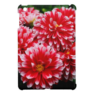 Red & White Dahlias iPad Mini Cover