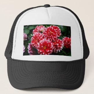 Red & White Dahlias Trucker Hat