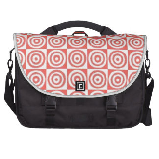 Red & white dots laptop commuter bag