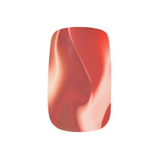 Red White Fire Design Minx Nail Art