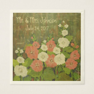 Red-White Floral Napkins