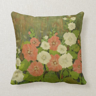 Red-White Floral Pillow