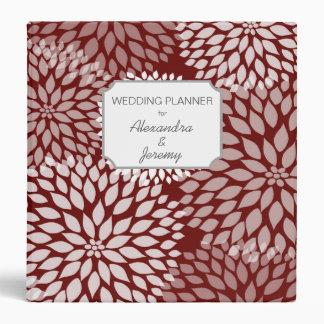 Red White Floral wedding planner binder