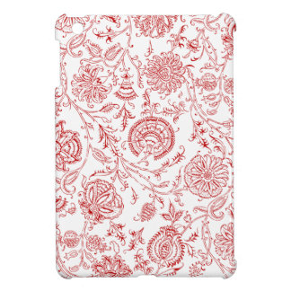 Red & White Flower Pattern iPad Mini Cases