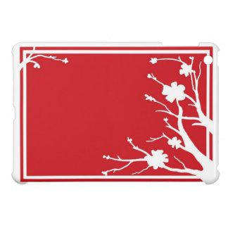 Red white flowers theme ipad mini case