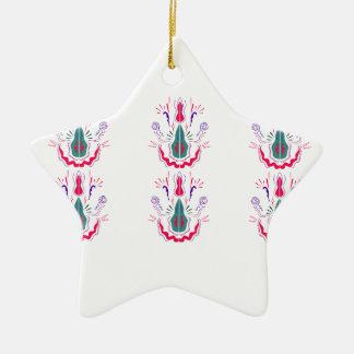 Red white folk ornaments