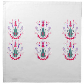 Red white folk ornaments napkin