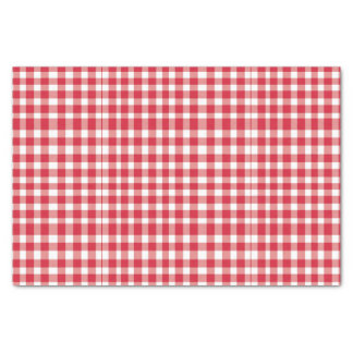 Red/White gingham Pattern Tissue Paper