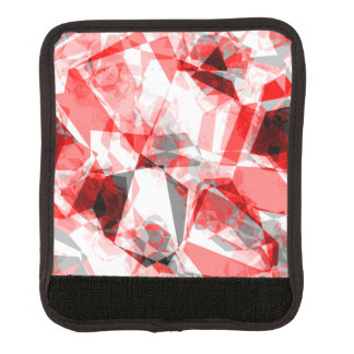 Red, White & Gray Geometric Polygon Shapes Luggage Handle Wrap