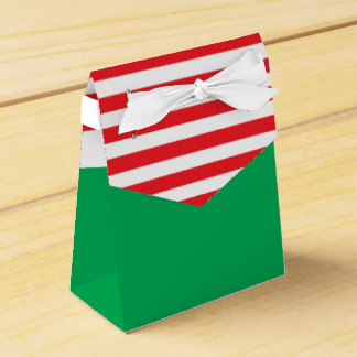 Red White Green Christmas Party Favor Boxes