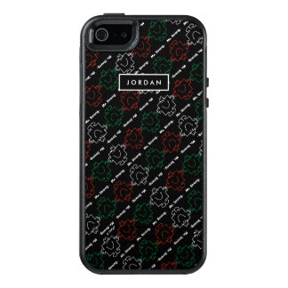 Red, White & Green Pattern | Add Your Name OtterBox iPhone 5/5s/SE Case