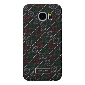 Red, White & Green Pattern | Add Your Name Samsung Galaxy S6 Case