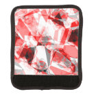 Red, White & Grey Geometric Polygon Shapes Luggage Handle Wrap