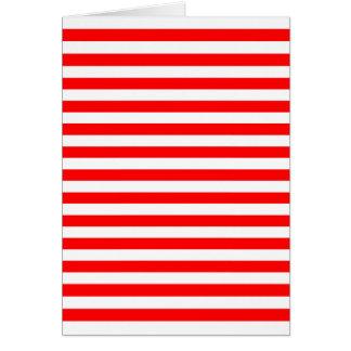 Red & White Horizontal Stripes Card