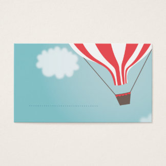 Red White Hot Air Balloon Name Place Cards