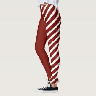 Red & White Jester Leggings