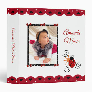 Red & White Lady Bug Photo Album Binder