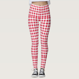 red-white leggings