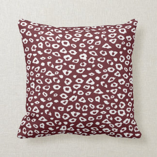 Red White Leopard Print Pillows