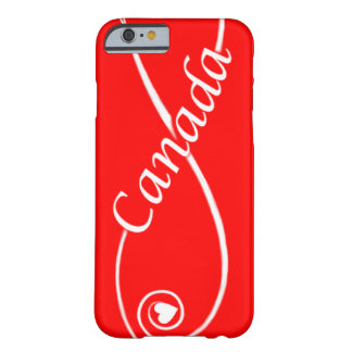 red white love Canada heart scroll phone covers