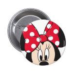 Red & White Minnie 2 Pinback Button
