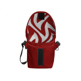 Red White Modern Abstract Geometric Patterns Courier Bags