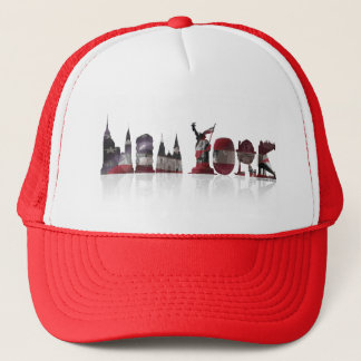 Red/White New York Trucker Hat