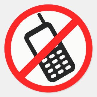 Red & White No Cellphones/No Talk/No Text Stickers