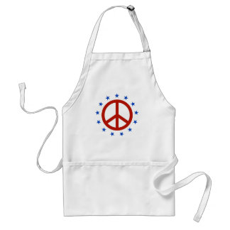 Red, White, & Peace Standard Apron