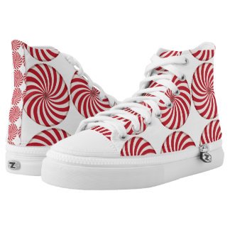 Red White Peppermint Candy Swirl