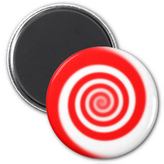 Red & White Peppermint Candy Swirl Magnet