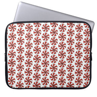 Red White Peppermint Swirl Mint Candy Christmas Laptop Sleeve